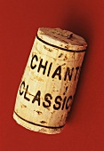 Wine corks of Italian red wine Chianti Classico