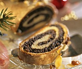 Sweet poppy seed roll for Christmas