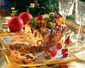 Christmas cake with candied fruit