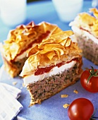 Minced meat pie with filo pastry