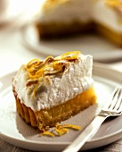 A piece of lemon meringue pie
