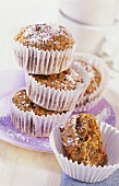 Carrot and poppyseed muffins