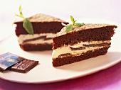 A few pieces of After Eight cake