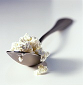 Ricotta Cheese on a Spoon