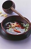 Lemon grass and shrimp soup with coriander
