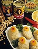 Gefilte Fisch (Jüdische Spezialität) & israelische Konserven
