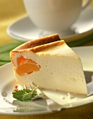 Quark cake (low-fat quark) with apricot filling
