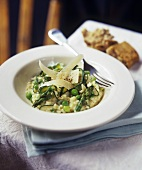 Risotto verde (Asparagus & pea risotto with Parmesan)