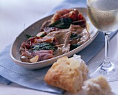 Saltimbocca alla romana (Veal escalopes with Parma ham)
