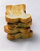Toasted slices of white bread