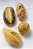 Sesame, poppy seed, mixed-grain and rye rolls