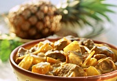 Spicy lamb curry with pineapple