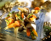 Rollmops with pickled vegetable stuffing (Pickled herring)