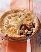 Lamb pie with potato pastry crust
