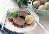 Leg of venison with potato dumpling