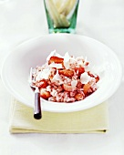 Strawberry risotto with Parmesan