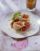 Crepes with strawberry filling