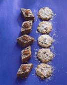 Peanut cookies and pecan brownies