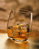Whisky with ice cubes
