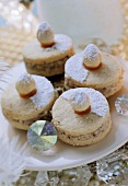 Sweet pastry biscuits with hazelnut filling (Mozartkrapfen)