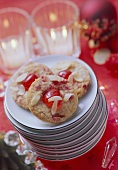 Almond cookies with candied cherries