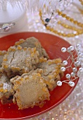 Honey & walnut biscuits with candied orange peel (Phoenika)