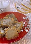 Honey & walnut biscuits with candied orange peel (Phoenika)