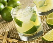 A glass of Caipirinha