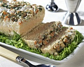 Fish terrine with salmon and whiting