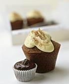 Cappuccino muffin and espresso muffin