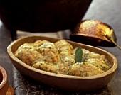 Virado de frango (Brazilian chicken dish)