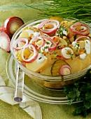 Potato salad with diced bacon
