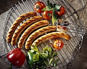 Thuringian sausages, grilled