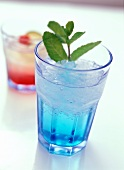 Cocktail with Blue Curacao and vodka (Summer sky)