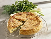 Greek spinach pie (Spanakopitta)