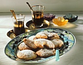 Greek sweet pastry cookies (Kourabiedes)