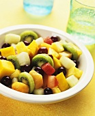 Fruit salad with kiwi, grapes, mango & pineapple
