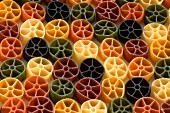 Coloured rotelle (little wheel pasta)