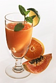 Papaya and orange drink