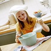 Girl making pastry