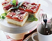 Puff pastry slice with strawberries