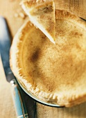 Milk tart (puff pastry rice pudding tart, S. Africa)