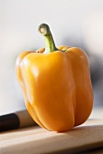 Close Up of Yellow Bell Pepper