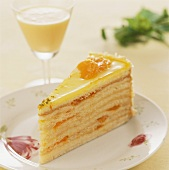 Advocaat gateau with mandarin oranges