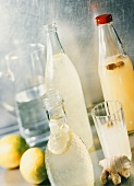 Lemonade and ginger beer