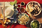 Various foodstuffs from Asia