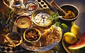 Middle Eastern dishes, teas and ingredients