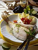 Stuffed plaice
