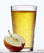 A glass of apple drink