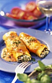 Cannelloni with chard and quark filling